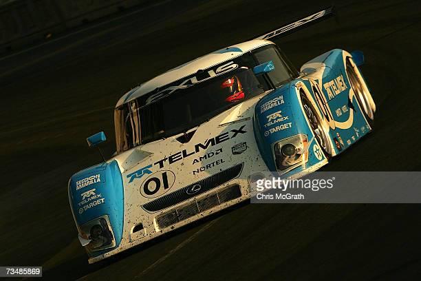 Scott Pruett and Memo Rojas drive the Telmex Chip Ganassi Lexus Riley during the GrandAm Rolex Sports Car Series race on March 3 2007 at the...