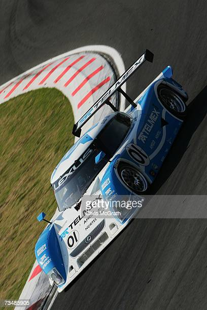 Scott Pruett and Memo Rojas drive the Telmex Chip Ganassi Lexus Riley during the GrandAm Rolex Sports Car Series race on March 3 2007 at the...