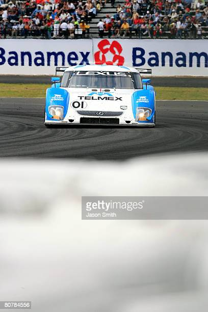 Scott Pruett and Memo Rojas drivers of the TELMEX Chip Ganassi Racing with Felix Sabates Lexus Riley races during the Rolex Series Mexico City 250 at...