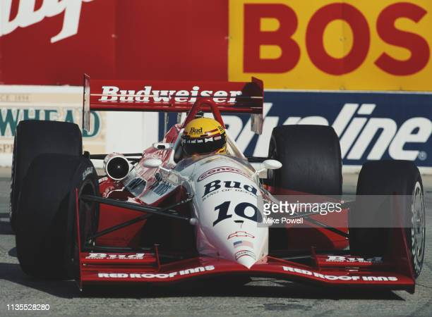 Scott Pruett of the United States drives the Budweiser Truesports Truesports 92C Chevrolet 265A during the Championship Auto Racing Teams 1992 PPG...