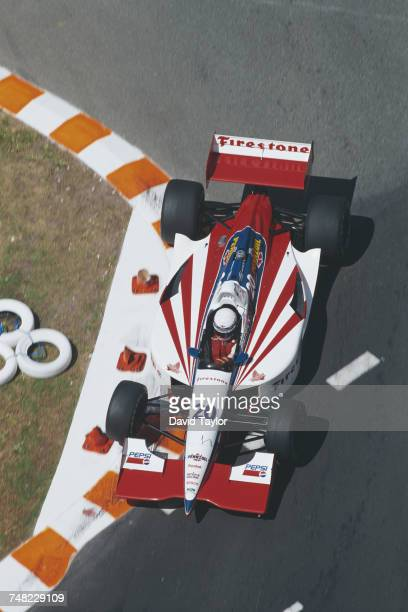 Scott Pruett of the United States drives the Firestone Patrick Racing Lola T96/00 Ford Cosworth during the Championship Auto Racing Teams 1996 PPG...