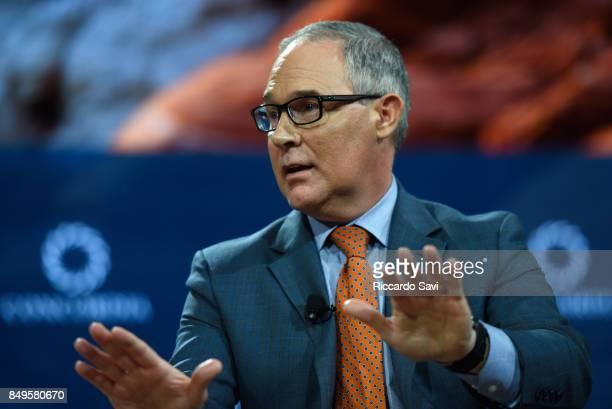 Scott Pruitt administrator of US EPA speaks at The 2017 Concordia Annual Summit at Grand Hyatt New York on September 19 2017 in New York City