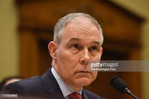 Scott Pruitt, Chief of the Environmental Protection Agency - EPA - testifies before the Committee on Energy and Commerce Subcommittee on Environment...
