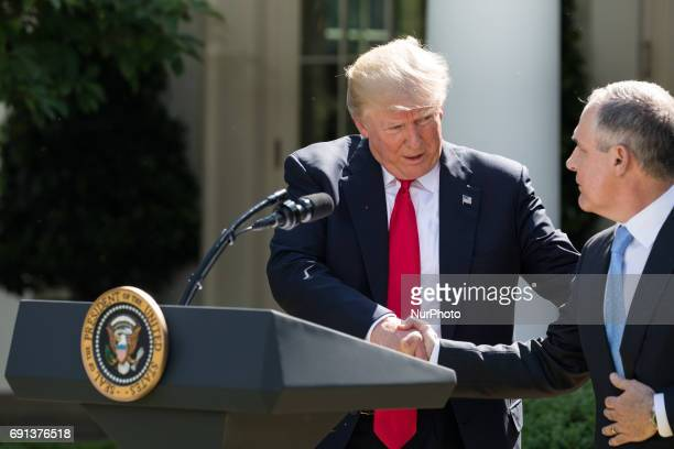 Scott Pruitt, EPA Administrator, spoke after President Trump made the statement that the United States is withdrawing from the Paris Climate Accord,...
