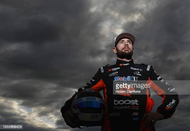 Scott Pye driver of the Mobil 1 Boost Mobile Racing Holden Commodore ZB poses for a portrait during previews ahead of the Bathurst 1000 which is part...