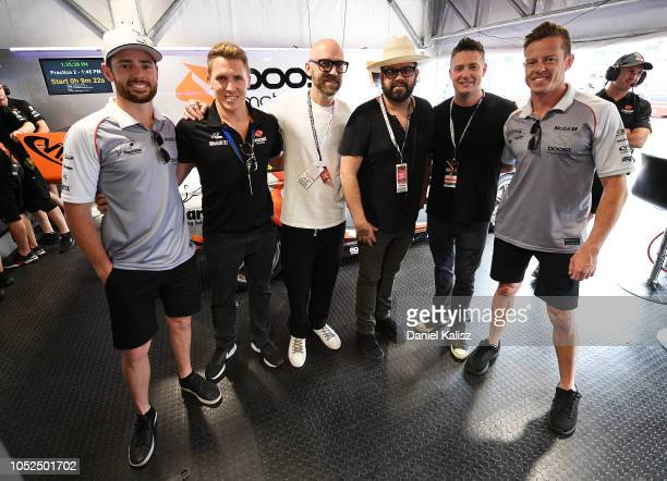 Scott Pye driver of the Mobil 1 Boost Mobile Racing Holden Commodore ZB Ryan Walkinshaw team owner of Walkinshaw Andretti United and James Courtney...
