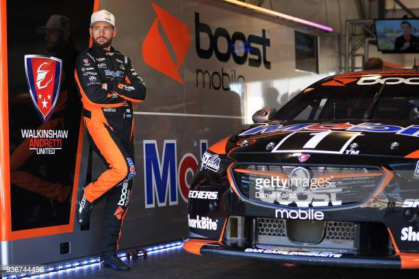 Scott Pye driver of the Mobil 1 Boost Mobile Racing Holden Commodore ZB poses for a photo during qualifying for the Supercars Australian Grand Prix...