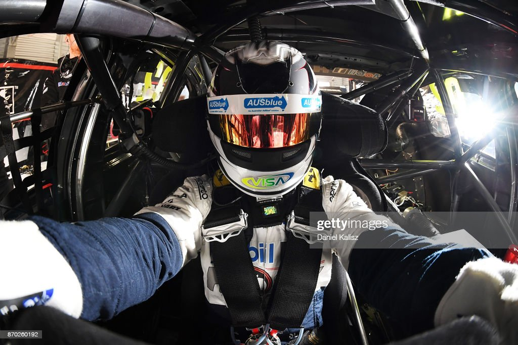 Scott Pye driver of the #2 Mobil 1 HSV Racing Holden Commodore VF takes a selfie prior to qualifying for race 24 for the Auckland SuperSprint, which is part of the Supercars Championship at Pukekohe Park Raceway on November 5, 2017 in Pukekohe, New Zealand.