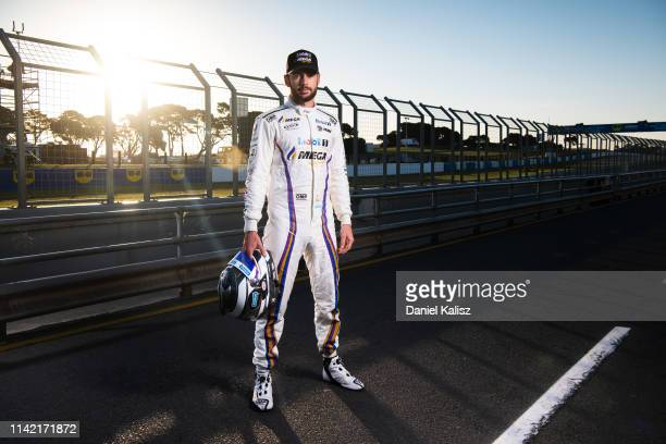 Scott Pye driver of the Mobil 1 MEGA Racing Holden Commodore ZB poses during the Phillip Island 500 as part of the Supercars Championship season at...