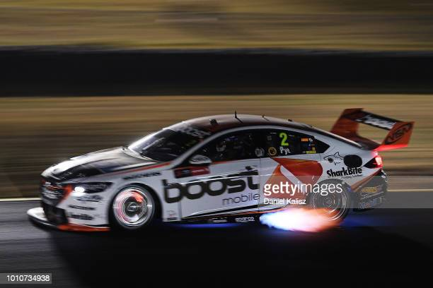 Scott Pye drives the Mobil 1 Boost Mobile Racing Holden Commodore ZB during race 21 for the Supercars Sydney SuperNight 300 at Sydney Motorsport Park...