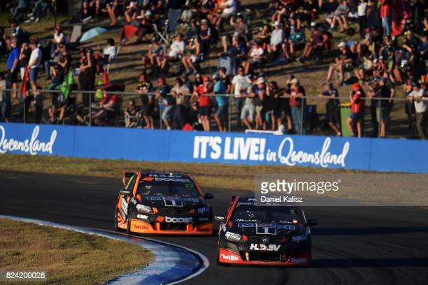 Scott Pye drives the Mobil 1 HSV Racing Holden Commodore VF during race 15 for the Ipswich SuperSprint which is part of the Supercars Championship at...
