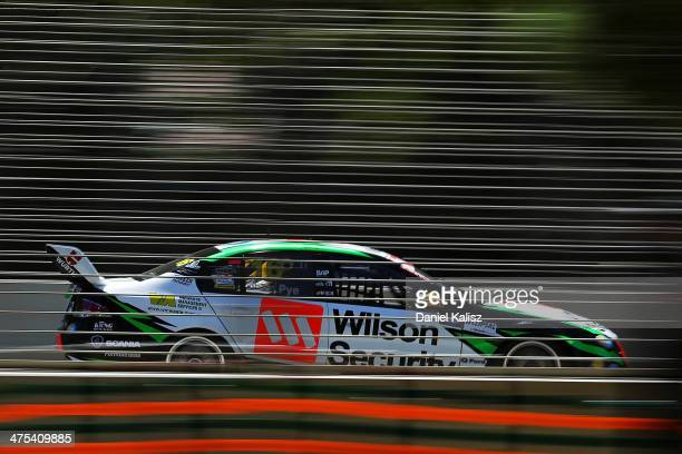 Scott Pye drives the Wilson Security Ford during practice for the Clipsal 500 which is round one of the V8 Supercar Championship Series at the...