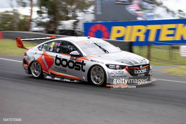 Scott Pye / Warren Luff in the Mobil 1 Boost Mobile Racing Holden Commodore across the top of the mountain at the Supercheap Auto Bathurst 1000 V8...