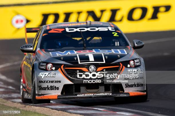 Scott Pye / Warren Luff in the Mobil 1 Boost Mobile Racing Holden Commodore through the final corner at the Supercheap Auto Bathurst 1000 V8 Supercar...