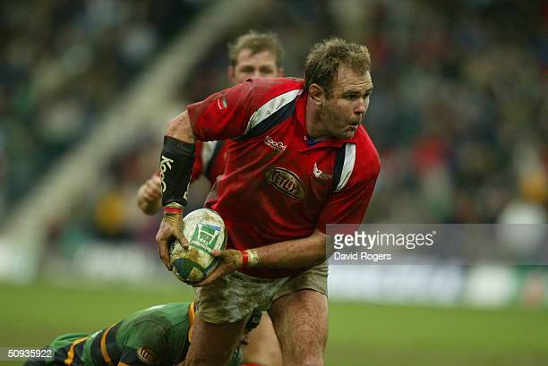 Scott Quinnell of Llanelli in action during the Heineken European Cup match between Northampton Saints and Llanelli at Franklin's Gardens on February...