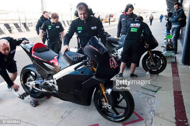 Scott Redding Aprilia Racing Team Gresini during the tests of the new season MotoGP 2018 Circuit of Ricardo TormoValencia Spain Wednesday 15th of...