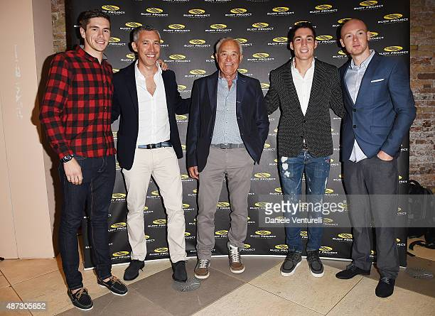 Scott Redding Cristiano Barbazza Bradley Smith Rudy Barbazza and Aleix Espargaro attend a party for 'Rudy Project' 30th Anniversary Party during the...