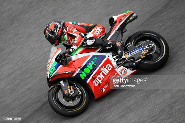 Scott Redding of Aprilia Racing Team Gresini in action during saturday's free practice session of the Malaysian Motorcycle Grand Prix on November 03...