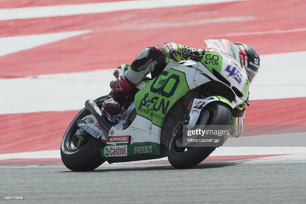 Scott Redding of Great Britain and Go&Fun Honda Gresini rounds the bend during the MotoGp Tests In Montmelo at Circuit de Catalunya on June 16, 2014 in Montmelo, Spain.