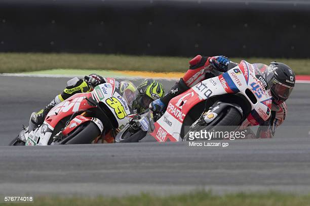 Scott Redding of Great Britain and Octo Pramac Racing leads the field during the MotoGP race during the MotoGp of Germany Race at Sachsenring Circuit...