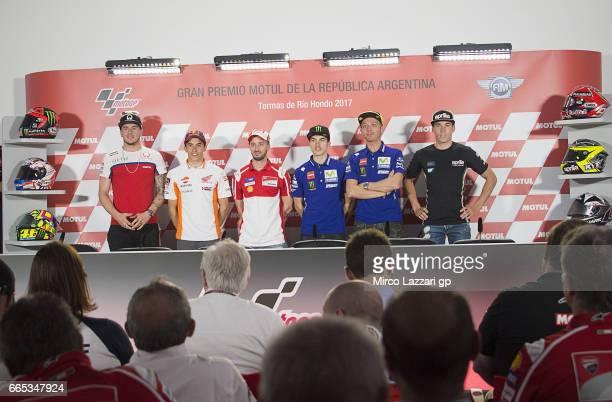 Scott Redding of Great Britain and Octo Pramac Racing Marc Marquez of Spain and Repsol Honda Team Andrea Dovizioso of Italy and Ducati Team Maverick...