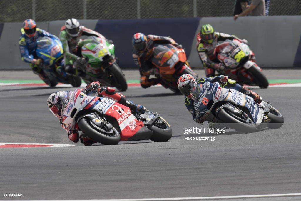 Scott Redding of Great Britain and Octo Pramac Yakhnich leads the field during the MotoGP race during the MotoGp of Austria - Race at Red Bull Ring on August 13, 2017 in Spielberg, Austria.