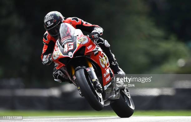 Scott Redding of Great Britain in action during the British Superbike Championship at Oulton Park on September 08, 2019 in Chester, England.