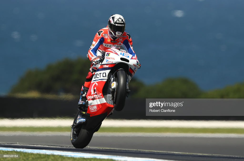 Scott Redding of Great Britain rides the #45 OCTO PRAMAC RACING Ducati during free practice for the 2017 MotoGP of Australia at Phillip Island Grand Prix Circuit on October 20, 2017 in Phillip Island, Australia.