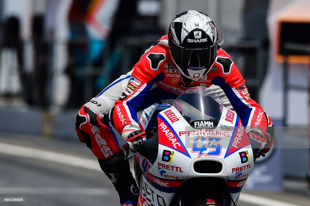 Scott Redding of Octo Pramac Racing with his bike during the