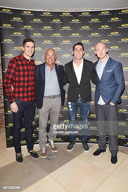 Scott Redding Rudy Barbazza Bradley Smith Aleix Espargaro attends a party for 'Rudy Project' 30th Anniversary Party during the 72nd Venice Film...