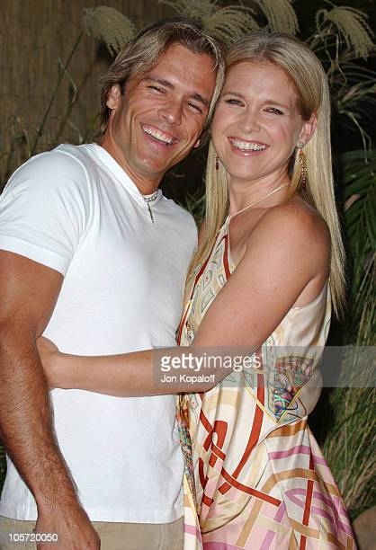 Scott Reeves and wife Melissa Reeves during 2005 NBC Network All Star Celebration at Century Club in Century City California United States