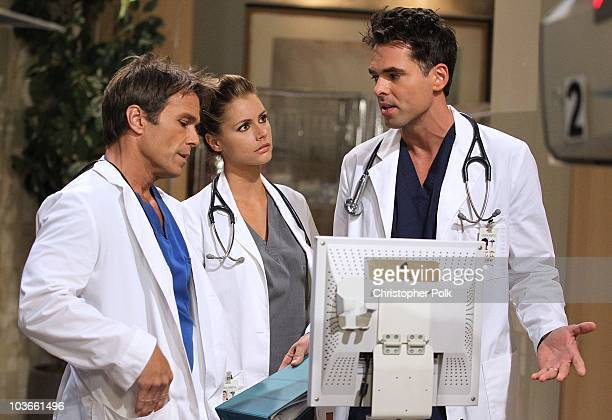 Scott Reeves Brianna Brown and Jason Thompson in a scene that airs the week of September 13 2010 on ABC�s GENERAL HOSPITAL
