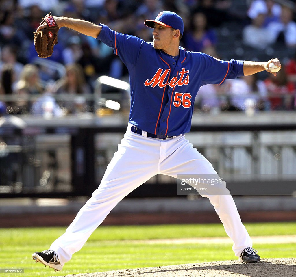 Scott Rice #56 of the New York Mets pitches against the Philadelphia Phillies at Citi Field on April 27, 2013 in the Flushing neighborhood of the Queens borough of New York City. (Photo by Jason Szenes/Getty Images