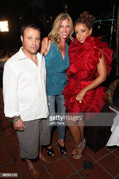 Scott Rosenblum Arianne Brown and Mya attend the closing party for Rock Media Fashion Week Miami Beach at Vita Restaurant Lounge on March 27 2010 in...