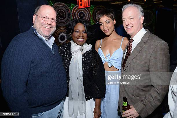Scott Rudin LaTanya Richardson Cush Jumbo and Reed Birney attend the Tony Honors Cocktail Party presenting the 2016 Tony Honors For Excellence In The...