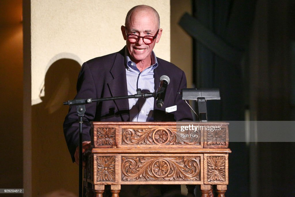 Scott Sale speaks onstage during the Stories From The Front Line charity program at the Ebell of Los Angeles on February 27, 2018 in Los Angeles, California.
