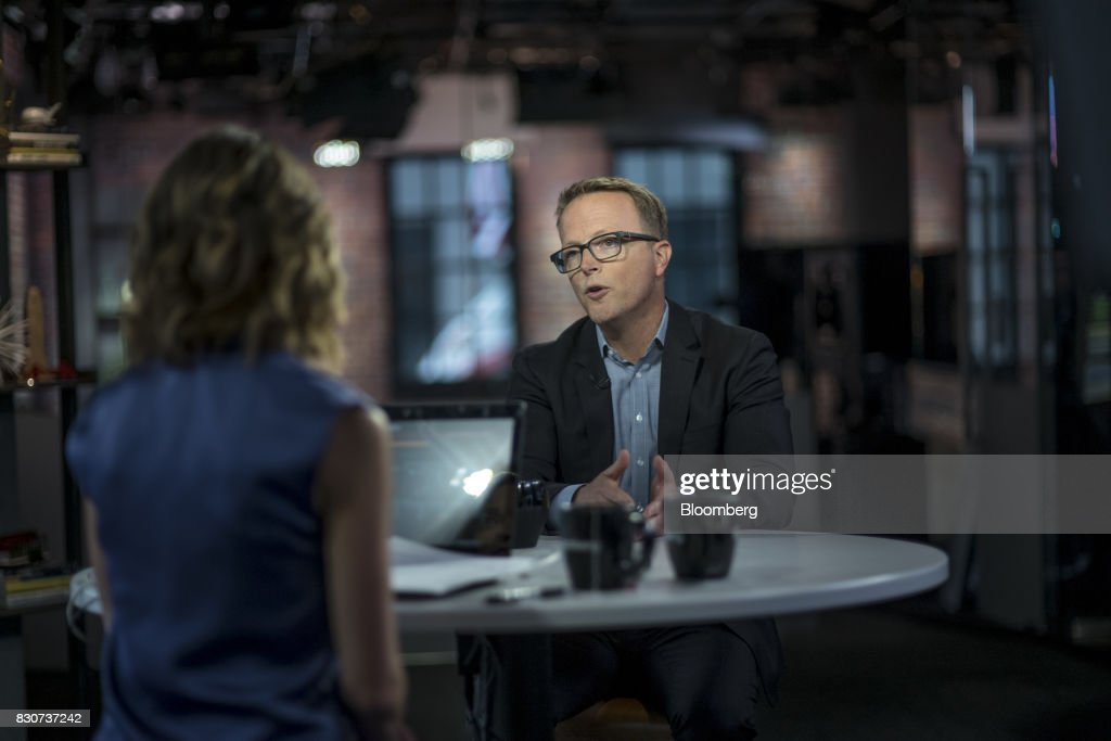 Scott Sanborn, chief executive officer of Lending Club Corp., speaks during a Bloomberg Technology interview in San Francisco, California, U.S., on Tuesday, Aug. 8, 2017. Sanborn discussed the company's path to recovery and bringing investors back to the platform. Photographer: David Paul Morris/Bloomberg via Getty Images
