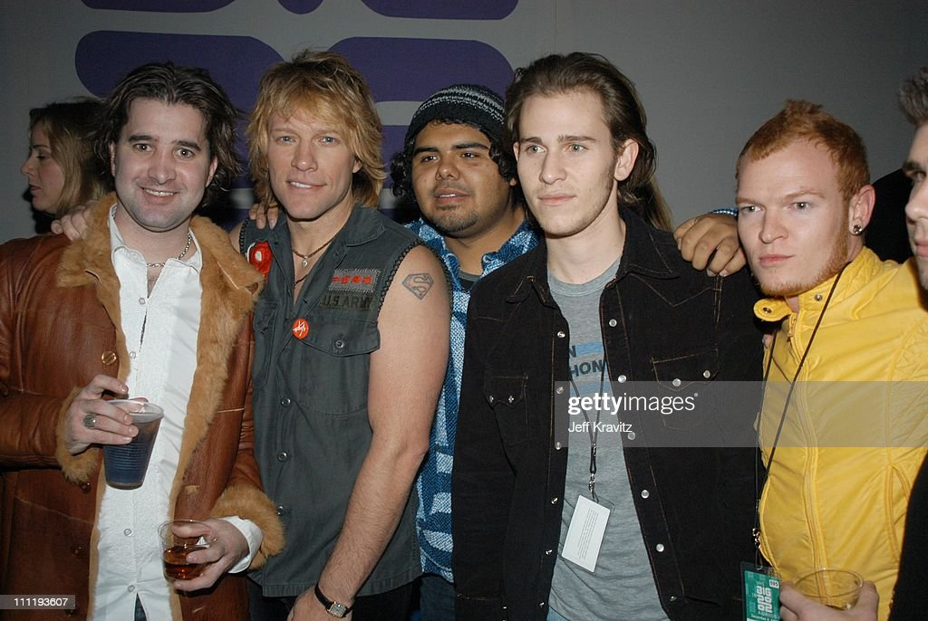 Scott Sapp, Jon Bon Jovi, Lifehouse during VH1 Big in 2002 Awards - After Party at Grand Olympic Auditorium in Los Angeles, CA, United States.