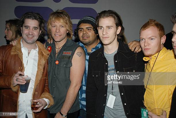 Scott Sapp Jon Bon Jovi Lifehouse during VH1 Big in 2002 Awards After Party at Grand Olympic Auditorium in Los Angeles CA United States