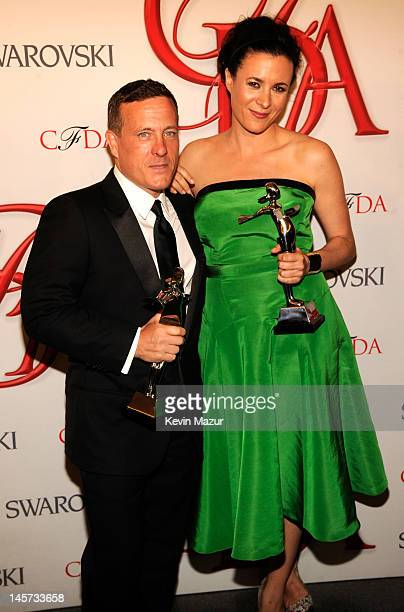 Scott Schuman and Garance Dore attend 2012 CFDA Fashion Awards at Alice Tully Hall on June 4 2012 in New York City