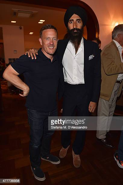 Scott Schuman and Waris Ahluwalia attend Ghurka cocktail party during 88 Pitti Immagine Uomo at Harry's Bar on June 18 2015 in Florence Italy