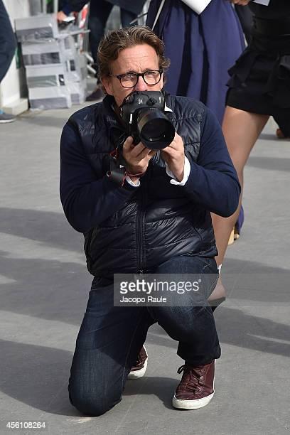 Scott Schuman arrives at Carven Show on September 25 2014 in Paris France