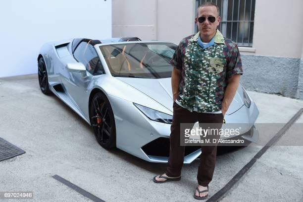 Scott Schuman attends Lamborghini Cocktail during Milan Men's Fashion Week Spring/Summer 2018 on June 17 2017 in Milan Italy