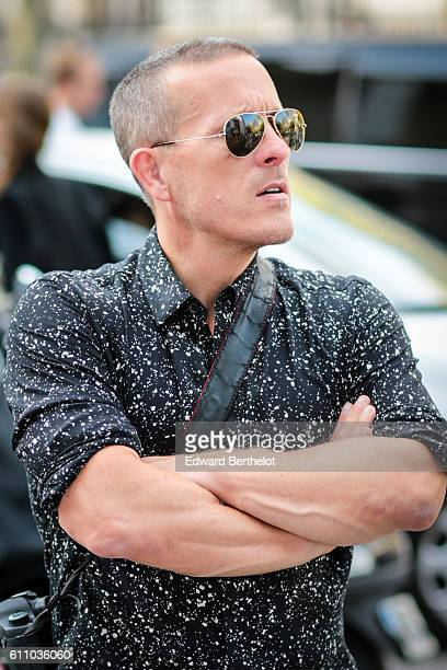 Scott Schuman is seen outside the Rochas show at the Palais de Tokyo during Paris Fashion Week Spring Summer 2017 on September 28 2016 in Paris France