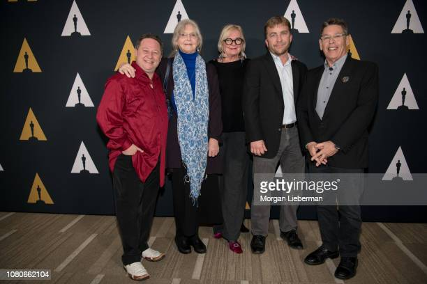 Scott Schwartz Melinda Dillon Mary E McLeod Peter Billingsley and Reuben Freed arrive at the Academy Of Motion Picture Arts And Sciences 35th...