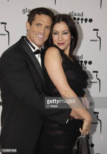 Scott Seomin and Jennifer Tilly during The 13th Annual GLAAD Media Awards - Los Angeles - Backstage & Dinner at The Kodak Theater in Los Angeles,...