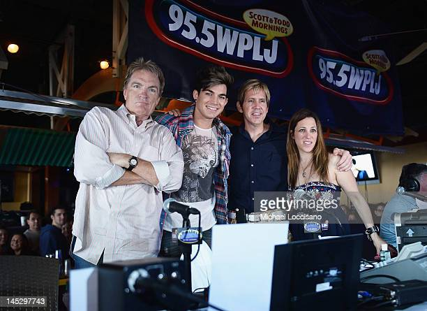 WPLJ DJ Scott Shannon singer Adam Lambert and WPLJ DJs Todd Pettengill and Cooper Lawrence attend the 15th Annual WPLJ Summer BlastOff at Jenkinsons...