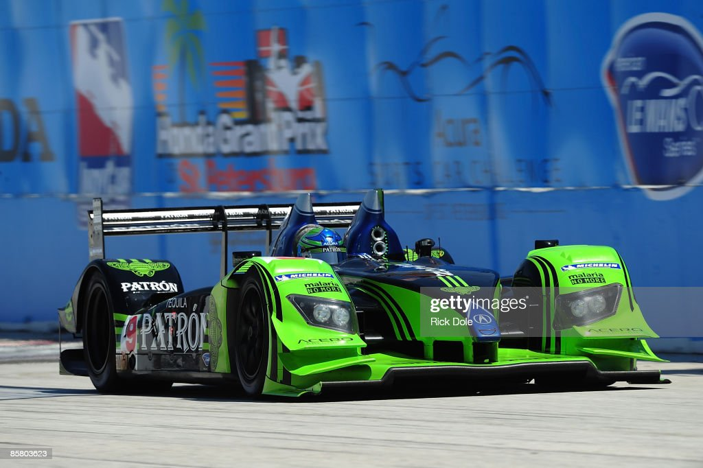Scott Sharp Drives The Patron Highcroft Racing Acura ARX 02a During The  American Le Mans