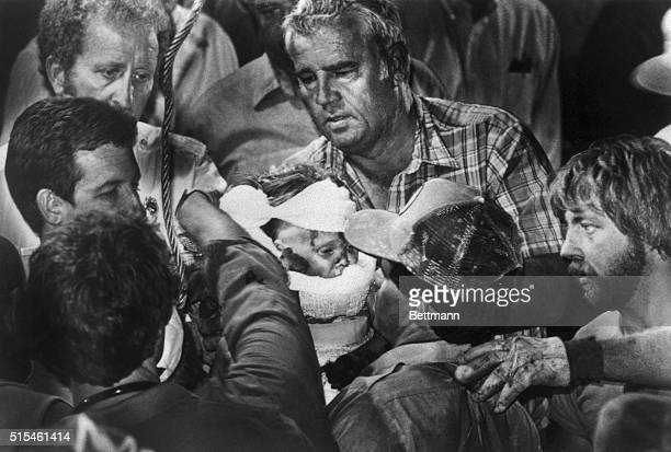 Scott Shaw of the Odessa American won the 1988 Pulitzer Prize for spot news photography for this photo taken October 16 of 18 month old Jessica...