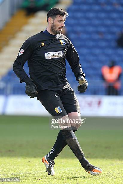 Scott Shearer of Mansfield Town in action during the Sky Bet League Two match between Mansfield Town and Northampton Town at One Call Stadium on...
